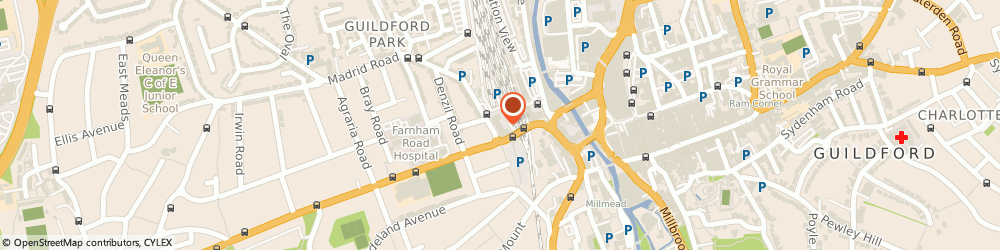 Route/map/directions to Software Planet Group, GU2 4RG Guildford, 1 Farnham Road