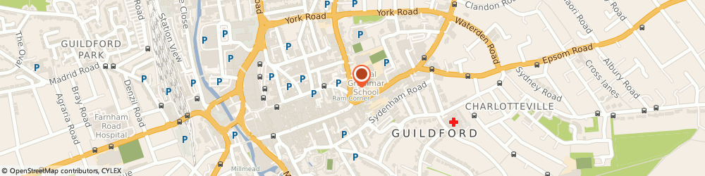Route/map/directions to Banham Locks, GU1 4HD Guildford, 20 Chertsey Street