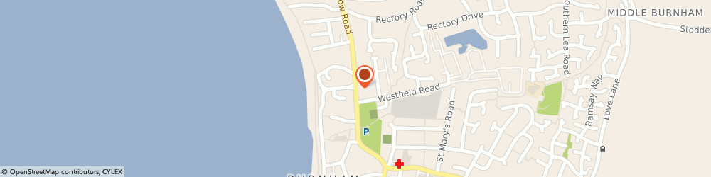 Route/map/directions to Hillview Nursing Home, TA8 2EX Burnham-On-Sea, 36 Berrow Rd