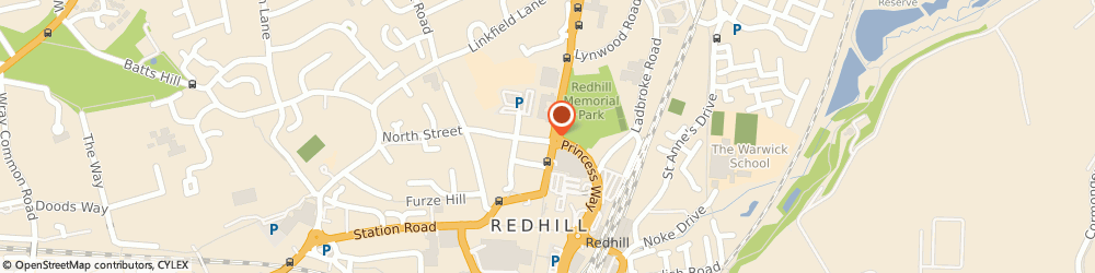 Route/map/directions to Aon Risk Solutions, RH1 1LU Redhill, Somerset House