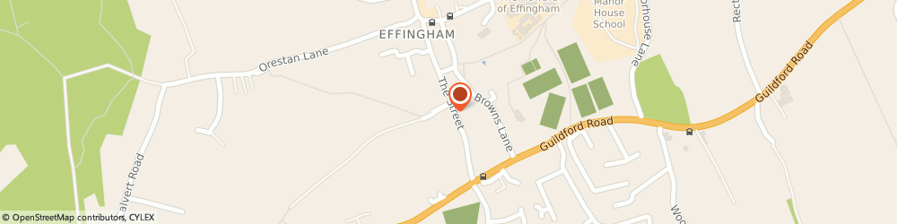 Route/map/directions to Headliners Unisex Salon, KT24 5LH Leatherhead, 1 The Laurels, The Street