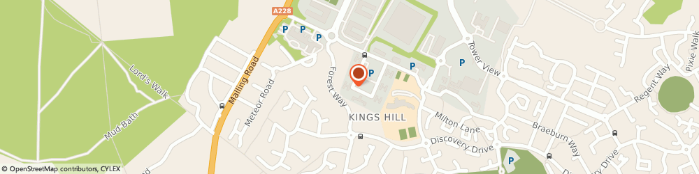 Route/map/directions to Kings Hill Counselling, ME19 4YU Kings Hill, 50 Churchill Square