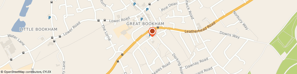 Route/map/directions to Grove Pharmacy, KT23 4LP Leatherhead, 4 Grove Corner