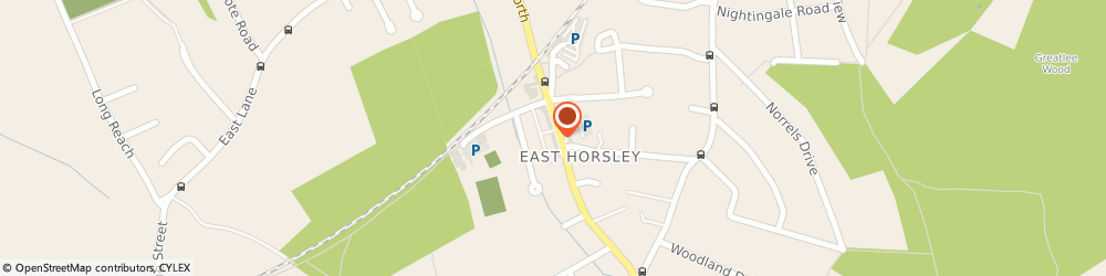 Route/map/directions to Royal Mail, KT24 6QN Leatherhead, 12 Station Parade Ockham Road South, East Horsley