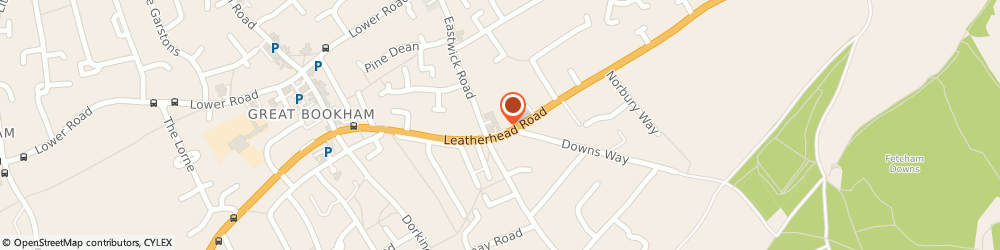 Route/map/directions to Michaels, KT23 4RL Leatherhead, 5 New Parade