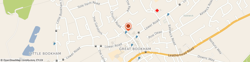 Route/map/directions to Donner Optometrists-Bookham, KT23 3PD Leatherhead, 9 CHURCH ROAD