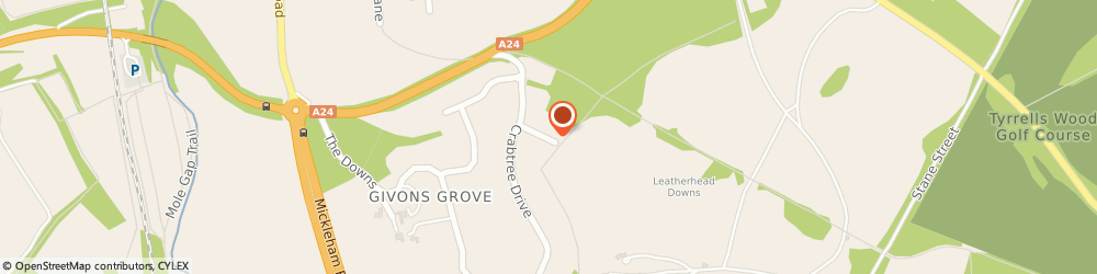 Route/map/directions to Thinkanew Media Ltd, KT22 8LP Leatherhead, EVERGREEN, 6 WOODEND