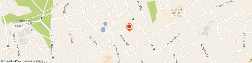 Route/map/directions to Mrs Lucy Saxton Leatherhead Fetcham, KT22 9NZ Fetcham, PHYSIOTHERAPIST, 16 RICHMOND WAY