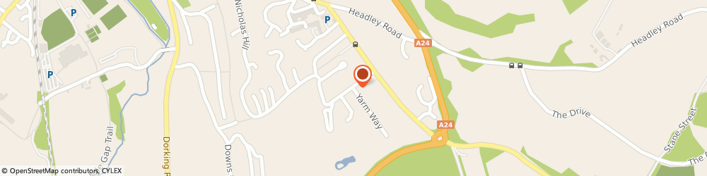 Route/map/directions to Bowen Therapies, KT22 8RQ Leatherhead, Yarm Way