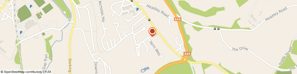 Route/map/directions to Chonk Limited, KT22 8RG Leatherhead, WILLOWHAYNE, FIR TREE ROAD