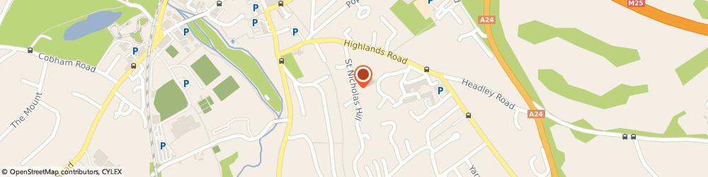 Route/map/directions to Swan Holdings Limited, KT22 8NE Leatherhead, OVERDALE, ST. NICHOLAS HILL