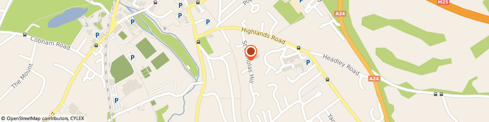 Route/map/directions to Tanwood Consulting Limited, KT22 8NE Leatherhead, Tanwood House;St. Nicholas Hill