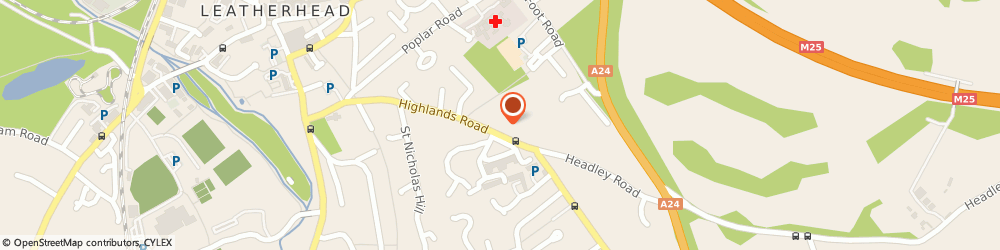 Route/map/directions to Dj Connolly Limited, KT22 8NW Leatherhead, 73A HIGHLANDS ROAD