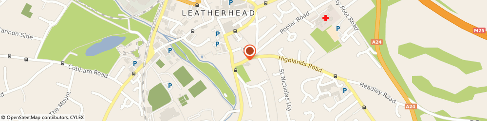Route/map/directions to Samaritans, KT22 8AT Leatherhead, 7 Church Road