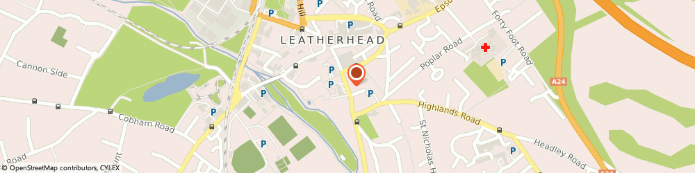 Route/map/directions to Registration Of Births,deaths & Marriages, KT22 8DP Leatherhead, THE MANSION, 70 CHURCH STREET