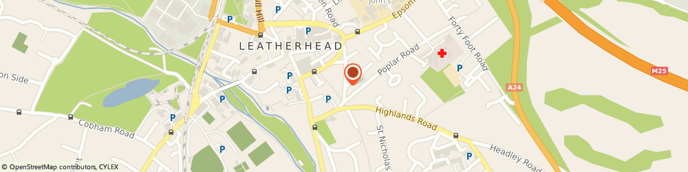 Route/map/directions to Body & Soul Organic Foods Limited, KT22 8AT Leatherhead, The Lilacs  25 Church Road