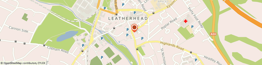 Route/map/directions to The Family Law Partnership, KT227AH Leatherhead, Devonshire House, 66 Church Street