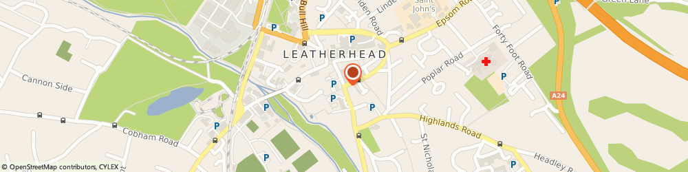 Route/map/directions to Central Taxis, KT22 8EF Leatherhead, CHURCH STREET, BOOKHAM