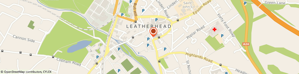 Route/map/directions to Blue Cafe, KT22 8DW Leatherhead, 52-56 Church St