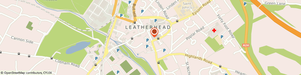 Route/map/directions to Aqmen Ltd, KT22 8DN Leatherhead, Manor House, 19 Church St