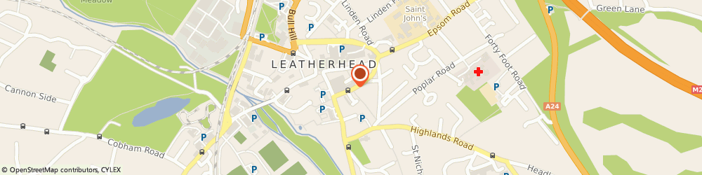 Route/map/directions to Lucas Design & Construction Limited, KT22 8DY Leatherhead, ASHCOMBE HOUSE, 5 THE CRESCENT
