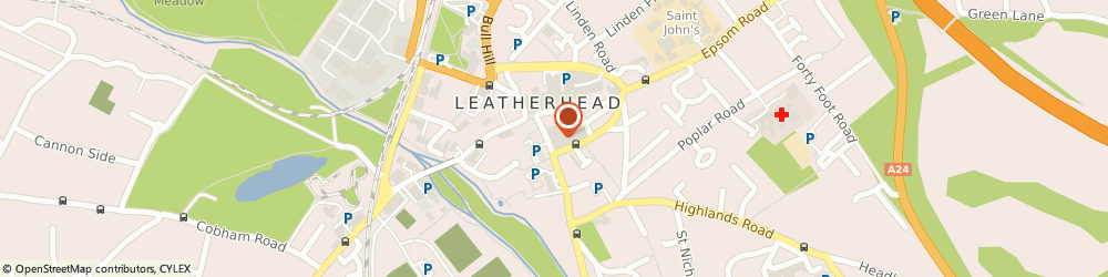 Route/map/directions to The Leatherhead Theatre Repertory Company Limited, KT22 8DN Leatherhead, 7 Church Street
