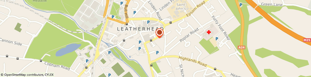 Route/map/directions to Leatherhead Locksmiths, KT22 8ED Leatherhead, The Crescent