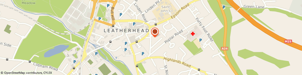 Route/map/directions to Post Office Limited, KT23 3PF Leatherhead, 15 Church Road