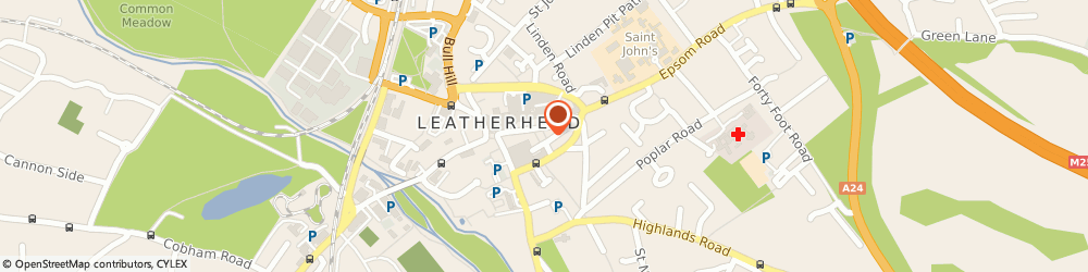 Route/map/directions to Wetherspoon, KT22 8AW Leatherhead, 30–34 High Street