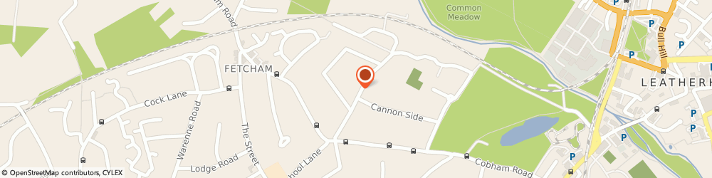 Route/map/directions to Cannon Court, KT22 9LG Fetcham, 17B Cannon Grove