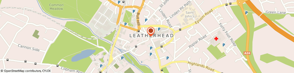Route/map/directions to Penny Black, KT22 7AX Leatherhead, 5 North Street