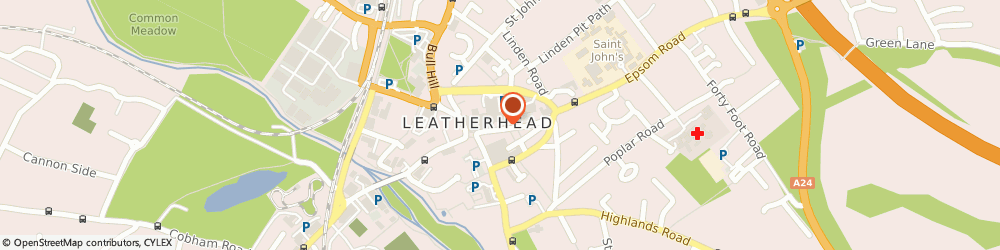 Route/map/directions to Tylney House Hospital, KT22 8AB Leatherhead, 23 High St