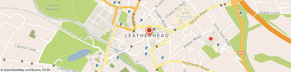 Route/map/directions to Post Office Limited, KT22 8AA Leatherhead, 1 - 3 High Street