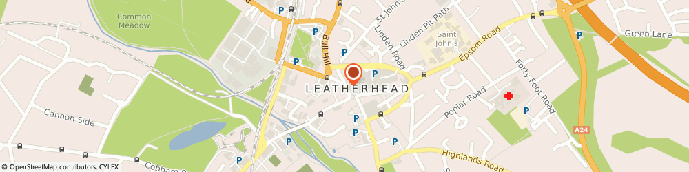 Route/map/directions to HSBC Bank, KT22 7AR Leatherhead, 18 North Street
