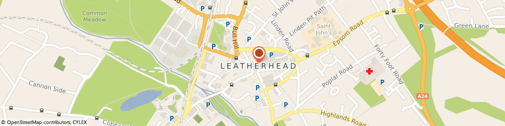 Route/map/directions to Kingsland Surveyors, KT22 7AW Leatherhead, Granary House, 18a North Street