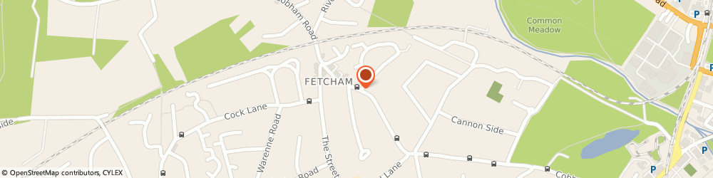 Route/map/directions to Fetcham Pharmacy, KT22 9HX Fetcham, 147 COBHAM ROAD
