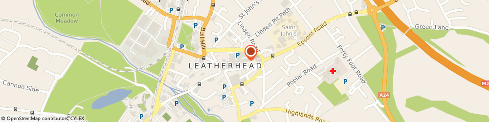 Route/map/directions to Fairfield Centre, KT22 8AH Leatherhead, 34 Swan Court