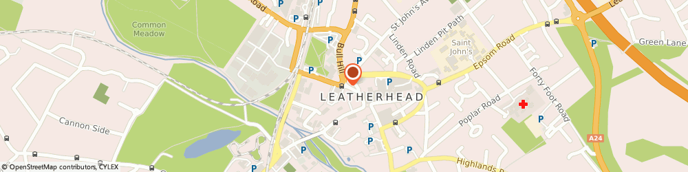 Route/map/directions to Charlie & Ginger, KT22 7AX Leatherhead, 1B North St