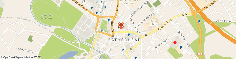 Route/map/directions to Dr S Williams, KT22 7HH Leatherhead, 30 Upper Fairfield Road