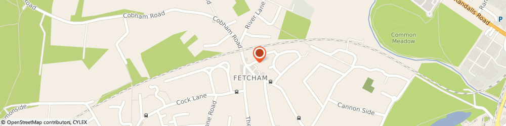 Route/map/directions to Peter's Taxis, KT22 9JG Fetcham, 5, SHAMROCK CLOSE