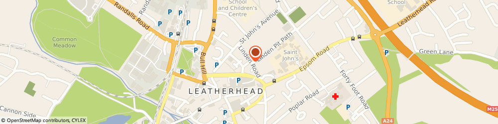 Route/map/directions to Leatherhead Constitutional Club, KT22 7JB Leatherhead, 13a Linden Road