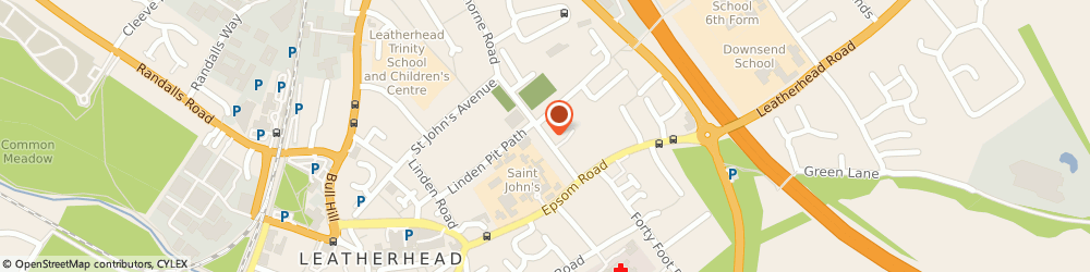 Route/map/directions to Leatherhead Plant, KT22 7EA Leatherhead, Garlands Road