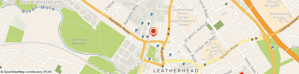Route/map/directions to Rank Taxis, KT22 7SQ Leatherhead, Station Approach