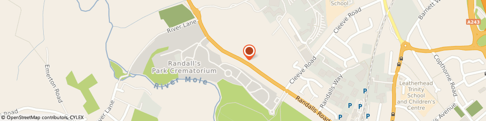 Route/map/directions to SABP CARE LTD, KT22 7AD Leatherhead, 18 Mole Business Park, Randalls Road