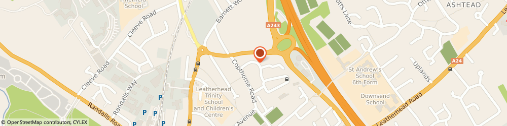 Route/map/directions to Leatherhead Taxis Service, KT22 7EA Leatherhead, 19, Cressal Mead, Mole Valley