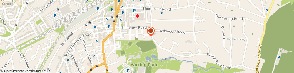 Route/map/directions to Paul Inglis, GU22 7LX Woking, Dolphin House, 12 Ockenden Road