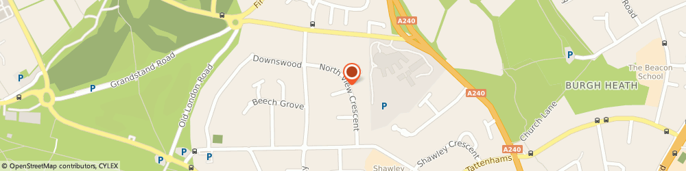 Route/map/directions to Parkwood Roofing, KT18 5UW Epsom, 25 North View Crescent