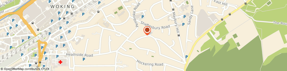 Route/map/directions to Woking Quaker Meeting, GU22 7DB Woking, 41 Park Road
