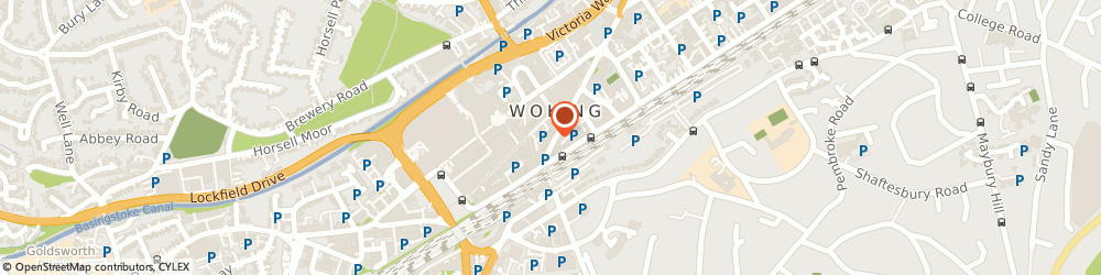 Route/map/directions to Cube Legal, GU21 5AH Woking, Suite 101, Railway House, 14 Chertsey Road