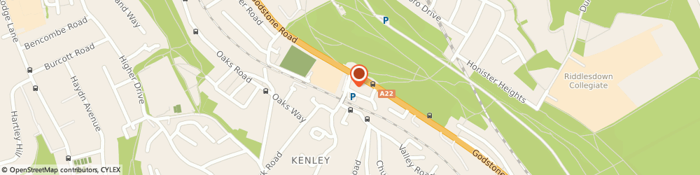 Route/map/directions to Bairstow Eves Estate Agents Kenley, CR8 5JD Croydon, 3 Station Approach, Hayes Lane